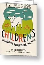 Children's Paintings-sculpture-prints Greeting Card
