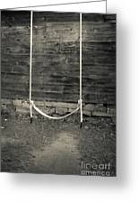 Child's Swing On An Old Farm Greeting Card