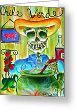 Chile Verde Greeting Card by Heather Calderon