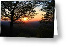Chilhowee Sunset Greeting Card
