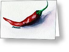 Chili Pepper Red 001 - Mini Study Greeting Card