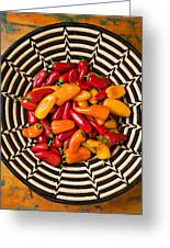 Chili Peppers In Basket  Greeting Card
