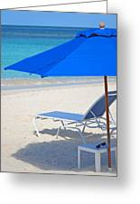 Chilling On The Beach Anguilla Caribbean Greeting Card
