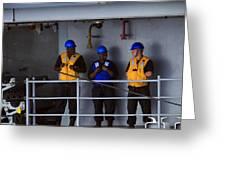 Chilling Sailors Greeting Card