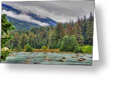 Chillkoot River Hdr Paint Greeting Card
