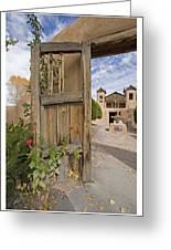 Chimayo Gate Greeting Card
