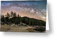 Chimney Beach With Milky Way Greeting Card