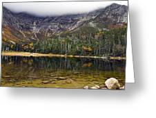 Chimney Pond During Fall - Baxter State Park Maine Greeting Card