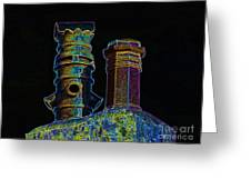 Chimney Pots. Greeting Card