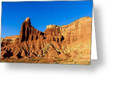 Chimney Rock At Capitol Reef Greeting Card