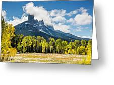 Chimney Rock Autumn Greeting Card