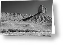 Chimney Rock In Black And White - Towaoc Colorado Greeting Card