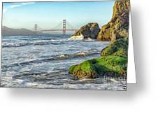 China Beach To The Golden Gate Greeting Card