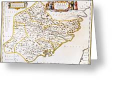 China: Fujian Map, 1662 Greeting Card