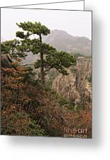 China, Mt. Huangshan Greeting Card