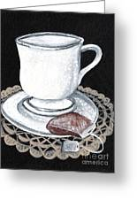 China Tea Cup Greeting Card