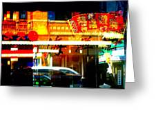 Chinatown Window Reflections 2 Greeting Card by Marianne Dow