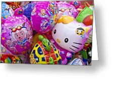 Chinese Balloons Greeting Card