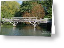 Chinese Bridge Over The River Greeting Card