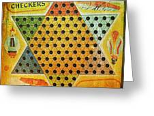 Chinese Checkers Greeting Card