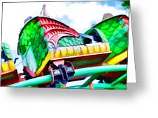 Chinese Dragon Ride 4 Greeting Card
