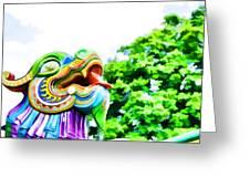 Chinese Dragon Ride Greeting Card