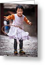 Chinese Girl Greeting Card