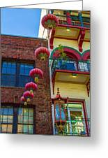 Chinese Lanterns Over Grant Street Greeting Card