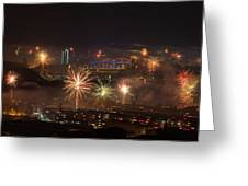Chinese New Year Fireworks 2018 I Greeting Card by William Dickman