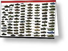 Chinese Pla Tanks Greeting Card
