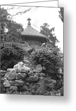 Chinese Rock Garden Greeting Card