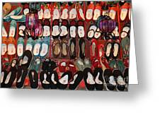 Chinese Slippers Greeting Card
