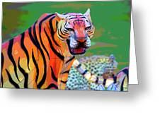 Chinese Tiger 2 Greeting Card