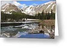 Chinns Lake Reflections 3 Greeting Card