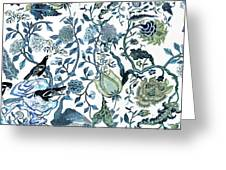 Chinoiserie Blue Greeting Card