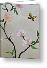 Chinoiserie - Magnolias And Birds #3 Greeting Card