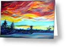 Chinook Arch Over Bow River Greeting Card
