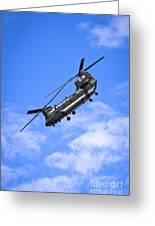Chinook Helicopter Greeting Card