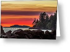 Chinook Sunset 2 Greeting Card