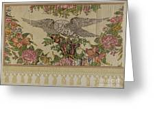 Chintz Valance For Poster Bed Greeting Card