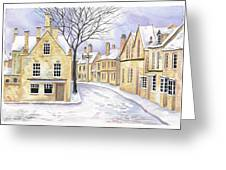 Chipping Campden In Snow Greeting Card