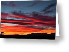 Chiricahua Mountain Sunset Greeting Card