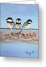 Chirpy Chickadees Greeting Card
