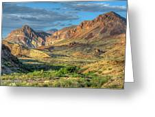 Chisos Mountains Of West Texas Greeting Card