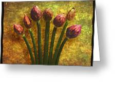 Chives Buds Greeting Card