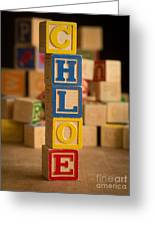 Chloe - Alphabet Blocks Greeting Card