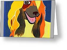 Chloe The Afghan Hound Greeting Card