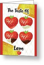 Chocolate - 7  Strawberry Greeting Card
