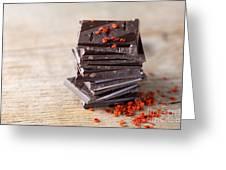 Chocolate And Chili Greeting Card
