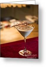 Chocolate And Cream Martini Cocktail Greeting Card